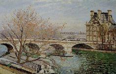 Camille Pissarro Pont Neuf | Camille PISSARRO: LE PONT-ROYAL ET LE PAVILLON DE FLORE