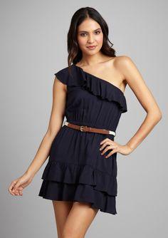 Love one-shoulder dresses.