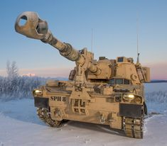 Paladin self propelled howitzer of US Army Army Usa, Army & Navy, Us Army, Army Vehicles, Armored Vehicles, Military Weapons, Military Life, M109, Self Propelled Artillery