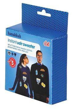 AmazonSmile: Instant Ugly Hanukkah Sweater Kit-Novelty Seasonal Gag Gift: Clothing