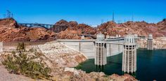 Hoover Dam, once known as Boulder Dam, is a concrete arch-gravity dam in the Black Canyon of the Colorado River, on the border between the US states of Arizona and Nevada. It was constructed between 1931 and 1936 during the Great Depression