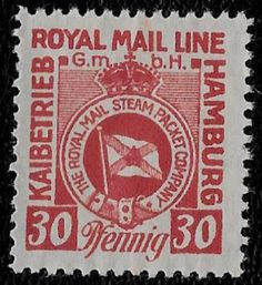 + 1921 The Royal Mail Line Steam Ship Packet Co.Hamburg Germany 30pf Southampton