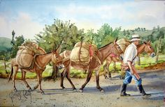 JUAN RUIZ. PINTOR ARTISTICO. Mexican Art, Art Pictures, Country, Color, Posters, Google, Bullock Cart, Animals, Ideas