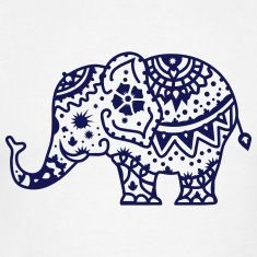 Mehndi Elephant - small and cute