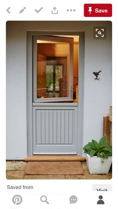 Myth: Wood windows will rot quickly. Truth: 'In fact, once you maintain and repaint wood windows, their lifespan starts all over again,' say the Wood Window Alliance. Door Design, Exterior Design, House Design, Patio Doors, Entry Doors, Front Doors, Metal Exterior Doors, Garage Doors, Front Porch