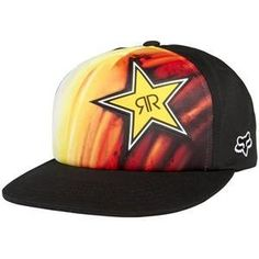 Fox Racing Rockstar Faded High Profile Snapback Hat - One size fits most/Black…