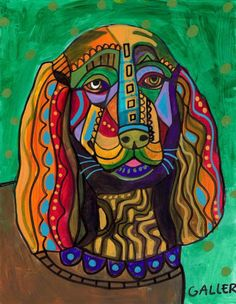 """Sussex Spaniel"" par Heather Galler"