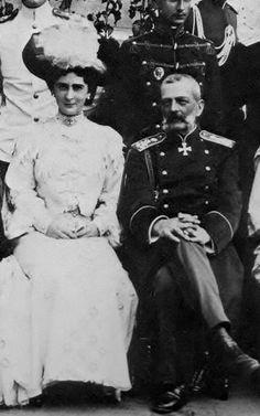 Grand Duke Vladimir Alexandrovich of Russia (1847-1909) with his half-sister Princess Ekaterina Alexandrovna Yurievskaya (1878-1959)
