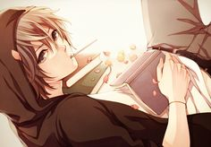 this would be my anime boy! <3 one of them lol. is it just me or are anime guys cuter while either smoking or wearing headphones?