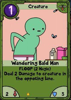 Adventure Time Card Wars - Wandering Bald Man - Useless Swamp Lands Card