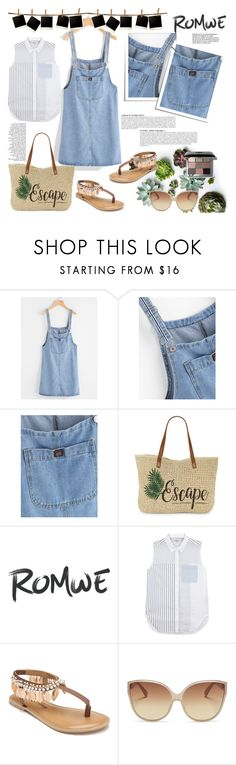 """""""Pinafore Denim Dress With Pockets"""" by manuelsbolli ❤ liked on Polyvore featuring Anja, Straw Studios, 3.1 Phillip Lim, Penny Loves Kenny, Linda Farrow and Bobbi Brown Cosmetics"""