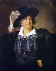 Stanisław August po abdykacji, w 1797, na piersiach widoczny emblemat masoński, obraz Élisabeth Vigée-Lebrun