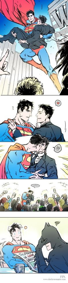 Superman fall in love bruce wayne