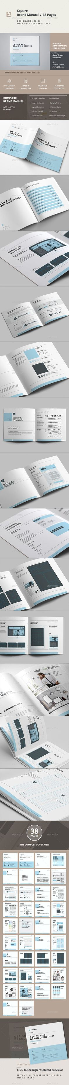 Brand Manual — InDesign INDD #typography #suisse • Available here → https://graphicriver.net/item/brand-manual-/11423681?ref=pxcr