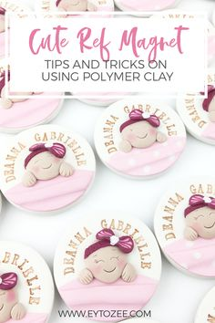 Baptism Giveaways Ideas, Baptismal Giveaways, Party Giveaways, Baptism Ideas, Baptism Favors, Polymer Clay Projects, Polymer Clay Crafts, Diy Clay, Polymer Clay Princess