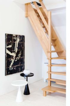 Attic Staircase, Stairs, Staircase Design, Stair Ladder, Backyard Barn, Rococo Furniture, Loft Room, Attic Rooms, Apartment Interior