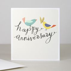 Modern Calligraphy Happy Anniversary Card