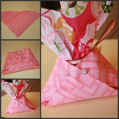 Easy cloth diaper favor holders for a baby shower! #favors