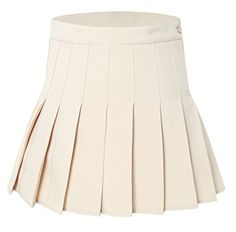 Womens High Waist Pleated Sexy School Skirt CostumesM Kakhi ** You can get additional details at the image link. #YogaWear