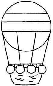 Resultado de imagen de globo aereo para colorear