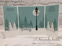 Christmas Lamppost & Lovely as A Tree Narnia card by Amanda Bates at The Craft Spa in the UK. Independent Stampin' Up! UK Demonstrator, Blogger and Tutorial Publisher with Online Shop 24/7