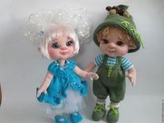 Купить Эльфочка - комбинированный, вязание на заказ, вязание спицами, вязаная игрушка, вязание для детей