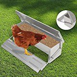 Voilamart Automatic Chicken Chook Poultry Feeder, 11 Pounds of Feed, Aluminum Auto Treadle Self Opening, Container Size x x Pvc Chicken Feeder, Automatic Chicken Feeder, Automatic Feeder, Diy Chicken Coop, Backyard Poultry, Chickens Backyard, Chicken Tunnels, Chicken Pen, Poultry Supplies