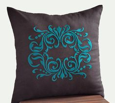 Gorgeous Damask Throw Pillow Covers  18 x 18 by KainKain on Etsy, $21.00---it doesnt go with anything I have but it is so beautiful!