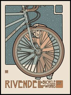 Rivendell Bicycle Works: latest David Lance Goines poster.