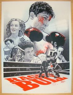 "2013 ""Raging Bull"" - Silkscreen Movie Poster by Joshua Budich"