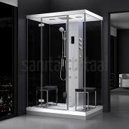 Cabine hammam 2 places 140 x 100 URBAN toutes options Cozy Furniture, Steam Showers, My Escape, My House, Locker Storage, Bathtub, Led, Cabinet, Mirror