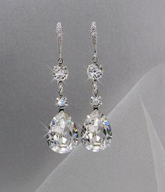 Crystal Bridal Earrings Crystal Wedding earrings by CrystalAvenues, $35.00