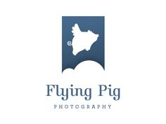 Dribbble - WIP Flying Pig Photo Logo by Sean Farrell