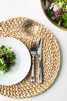 A fast-growing plant, water hyacinth is a great renewable material we use to make hand-woven things like SOARÉ place mats. Although a plant, it is quite sturdy and durable.