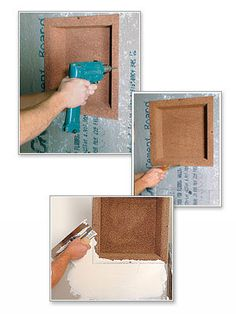 Recess-It ready-to-tile shower niche units in various sizes -- Installation instructions