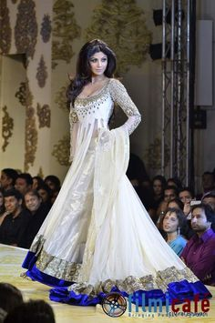 Sushmitha Sen in an elegant heavy white anarkali