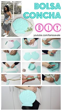DIY Bolsa Concha - Larissa Vale https://youtu.be/q78GCkTvJDg
