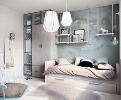 Kinderzimmermöbel aus hellem Holz und Deko mit Vintage Flair