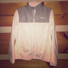 Fila Sport Performance Fleece White fleece jacket, size medium. Only worn once, in excellent condition. No stains at all!! Fila Jackets & Coats