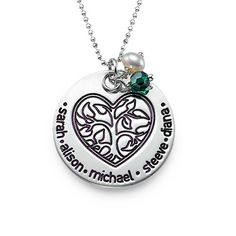 Personalized Necklace for Mom with Family Tree  | MyNameNecklace