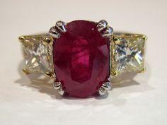 Menashe & Sons Jewelers Custom Ruby and diamond ring