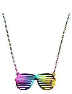 Rainbow Sunglasses Necklace | Necklaces | Jewelry | Shop Justice