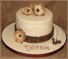 Rustic birthday cake - La Forge à Gâteaux