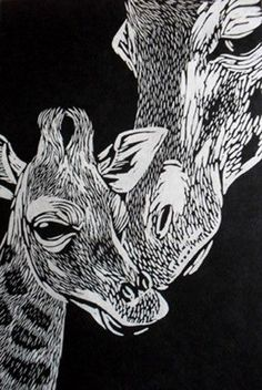 Image result for linocut animals