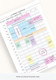 College Discover weekly schedule weekly planner weekly organizer weekly agenda weekly planner pages weekly calendar weekly plan printable weekly Study Planner, Planner Pages, Printable Planner, Life Planner, School Planner, Planner Journal, Color Coding Planner, Study Calendar, Printable Calendars