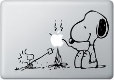 Snoopy Camping Vinyl Decal Macbook Laptop Stickers Auto Handmade Vinyl...I need a macbook just for this!