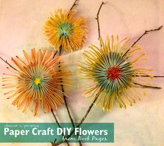 DIY Paper Art Decor – Flowers Created from Book Pages