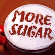 More sugar. Latte Art - beautiful. Stecil Coffee. http://loover.fr