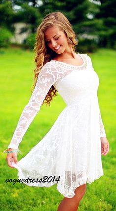 This is so beautiful!! Would be a perfect short wedding dress with cowboy boots #weddingdress