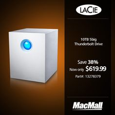 Save 38% on a 10TB Lacie 5big Thunderbolt drive at MacMall.